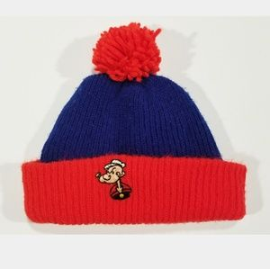 VTG Popeye 80s 90s Streetwear Colorful Beanie Hat